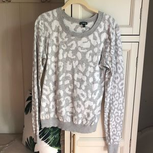 Express leopard sweater